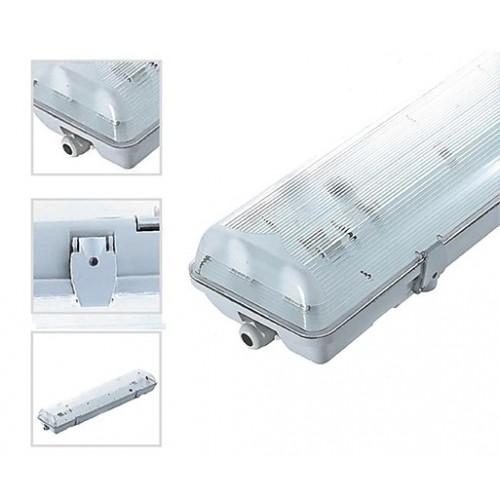 Boitier Etanche pour Tube LED 2x1200mm IP65