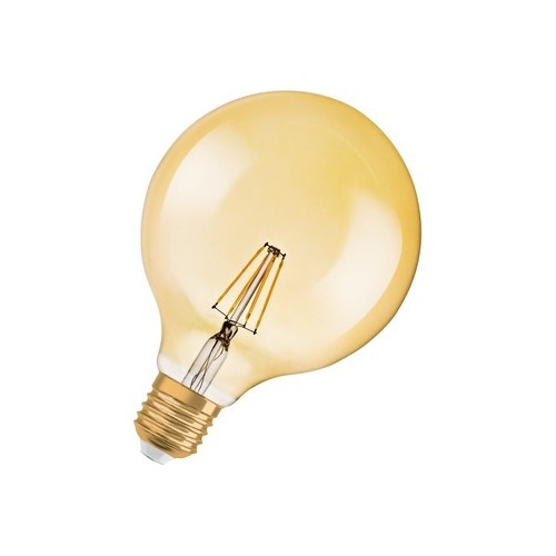 Ampoule Led Filament Globe 1906 4W=35W Gold E27 2700K