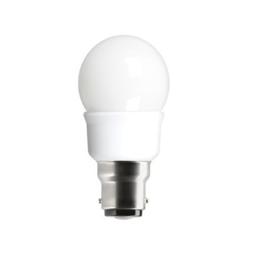 Ampoule Fluocompacte SPHERIQUE T2 5W 2700K B22 6000H
