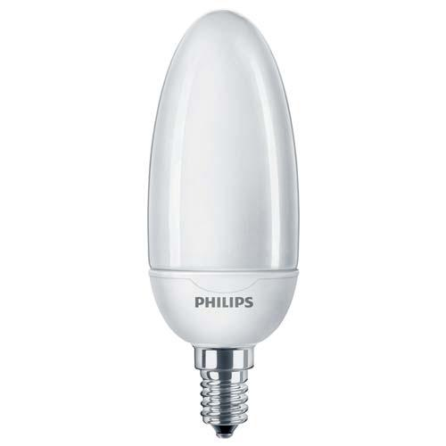 Ampoule Fluocompacte Softone Candle 12W E14 2700K