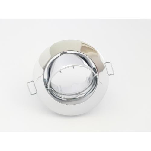 Encastre de plafond rond MR16 GU5,3 orientable 50w Chrome CT