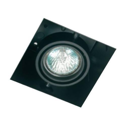 Encastre de plafond carré PICCOLO 50W MR16 GU5,3 orientable Noir
