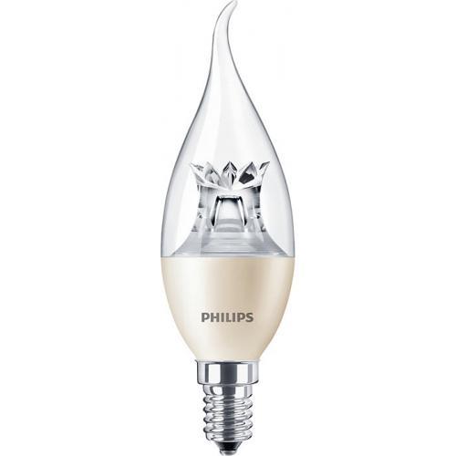 Ampoule LED MASTER LEDcandle Dimtone E14 6W=40W 2700K Coup de vent Dimmable