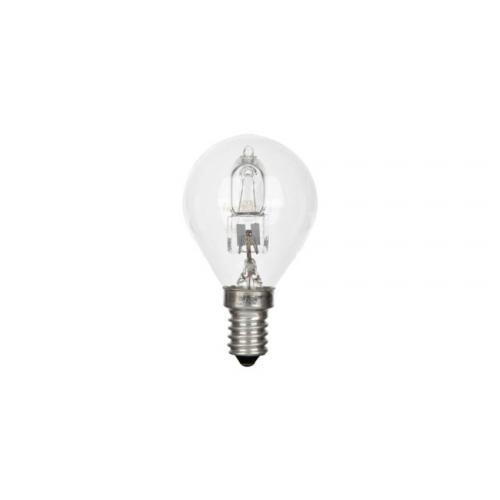 Ampoule halogène Sphérique 35W 3000K E14 claire