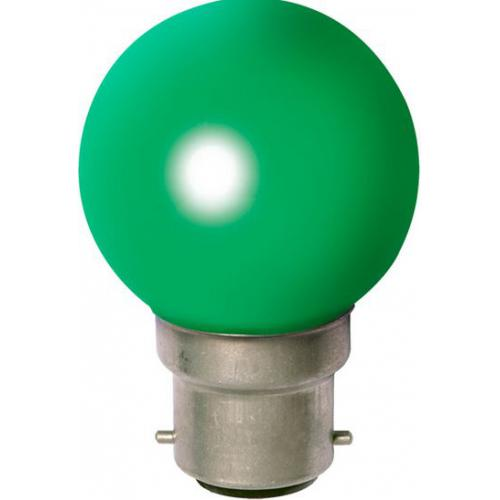 Ampoule Incandescante Sphérique B22 15W Vert