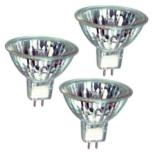 Ampoule Halogène GU5.3 MR16 12V 3000h 50W blister de 3
