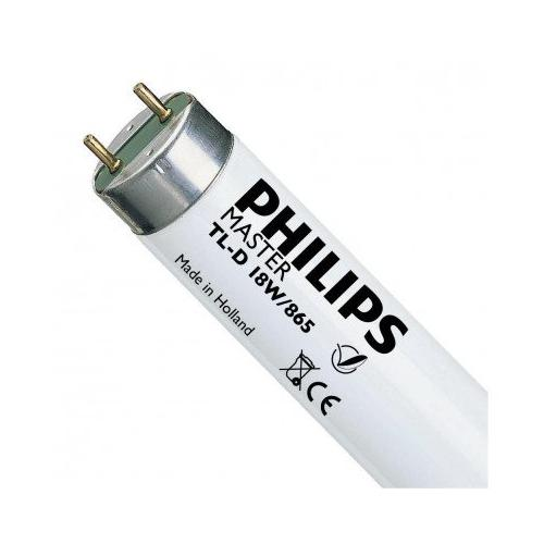 Tube fluorescent T8 TL D Super 80 18W 6500K G13 590mm Dimmable